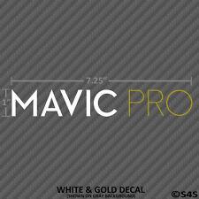 DJI Mavic Pro Decal Matte White and Gold Drone Quadcopter Sticker