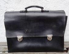 Antike D.R.P. Ledertasche Diplomaten Leder Tasche Deutsches Reich Patent  ~30er