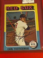 🔥 1975 Topps MINI Baseball Card Set #280 🔥 BOSTON RED SOX 🔥 CARL YASTRZEMSKI