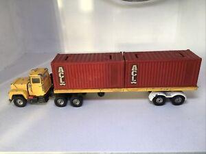 "Corgi Major 12"" MACK TRAILER TRUCK / ACL CONTAINER OriginalVintage Toy RARE 1106"