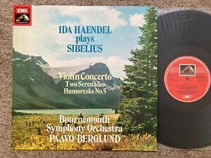 IDA HAENDEL & BERGLUND Sibelius Violin ORIG ASD 3199 UK-1976  NM