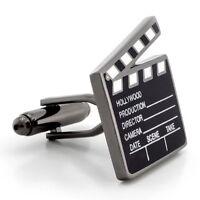 Clapperboard Film Movie Hollywood Cinema Director Cufflinks + Box & Cleaner
