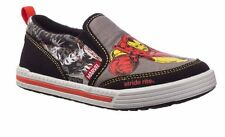 NIB STRIDE RITE Slip On Shoes IRON MAN Black Gray Red 8.5 M