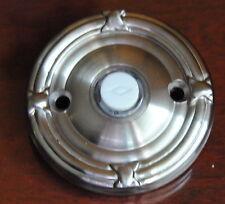 Emtek Ribbon Reed Doorbell Button Solid Brass Door Bell Satin Nickel