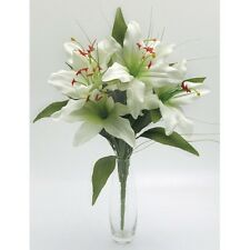Artificial silk flowers Tiger lily lilies cream