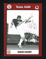 David Hardy 1991 Texas A&M Collegiate Collection signed autograph auto Card