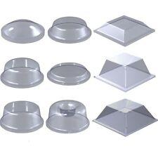 Polyurethane Clear Feet Square 12.6mmx5.7mm Self Adhesive Rubber Bumper (10 Pk)