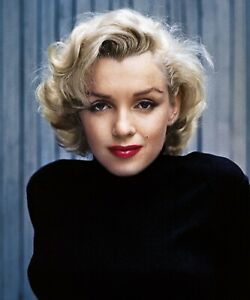 Vintage Marilyn Monroe Serious Colour Picture Print Poster Wall Art Picture A4 +