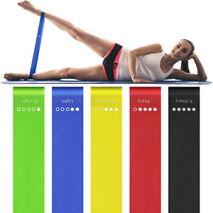 Coherny Resistance Bands Booty Leg Exercise Elastic Rubber Band Workout Fitness Gym Rubber Loops Latex Rubber Bands Healthy Yoga Gym Strength Training Athletic