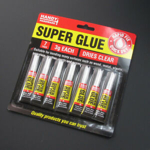 7 Very strong Super Glue  Adhesive ForGlass Rubber  Metal Wood Porcelain Ceramic
