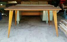 Thonet 1950s Vtg Mid Century Atomic Retro Modern Wood Danish Table Desk Hospital