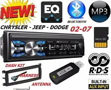 02 03 04 05 06 07 CHRYSLER JEEP DODGE BLUETOOTH USB SD AUX CAR RADIO STEREO