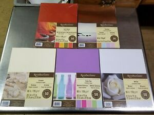 Lot of 5 Packs Recollections Cardstock Paper, Serene Spice Market White Soda Pop