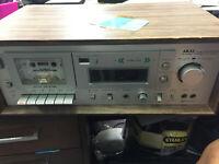 AKAI CS-M40R Vintage Cassette Deck FOR PARTS OR REPAIR ONLY