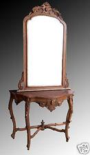 Consolle con specchio Luigi Filippo in legno di noce - '800