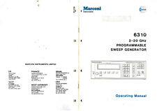 MARCONI INSTRUMENTS SIGNAL GENERATOR 6310 OPERATING MANUAL