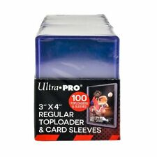"""3"""" x 4"""" Top Loaders & Clear Sleeves for Collectible Trading Cards - 100 count"""