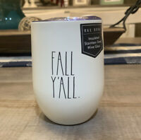 Rae Dunn by Magenta - FALL Y'ALL LL White Wine Tumbler with Lid - NWT
