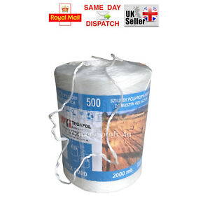 White Twine 5m - 500m Strong Polypropylene Poly String Garden Craft TEX-2000 UV