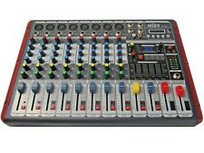 DJ PA 8 Kanal Mixer Mischpult Verstärker Party Mobil Stereo USB MP3 Player Sioux