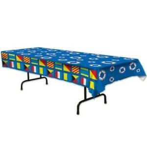 Nautical Plastic Banquet Tablecloth Nautical Cruise Party Birthday Decoration