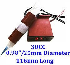 30cc Air Syringe 116mm long 25mm diameter 110V 35W Heater w/ Digital Controller