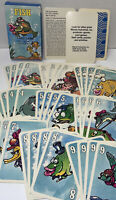 Card Game 1990 Fish Roseart Brand No. 41445 Vintage. Rare 4+   36 Fish Cards