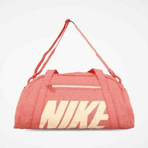 Nike Gym Club Bag Ember Glow Coral Washed One Size Gym Fitness Peach BA5490-850