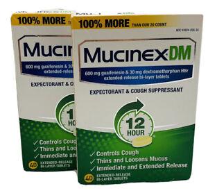 Mucinex DM 12Hr  Expectorant & Cough Suppressant 80 Tablet EXP 06/2021