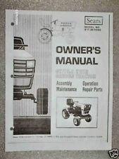 917.257080-Sears Suburban Tractor- GT/19.9 Twin Owners Manual on CD