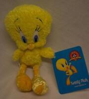 """SIX FLAGS WB Looney Tunes SOFT TWEETY BIRD 8"""" Plush STUFFED ANIMAL Toy NEW / TAG"""