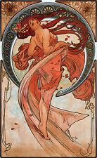 Vintage Alphonse Alfons Mucha Dance Deco Print Picture Poster A4