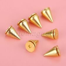 Fashion Cone Screw Metal Back Punk Bullet Rivet Stud Spikes Spot for DIY Project
