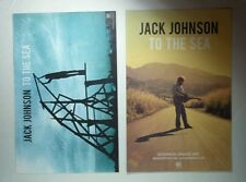 JACK JOHNSON TO THE SEA DOUBLE SIDED BLUE YW FLAT PHOTO THICK 11x17 MUSIC POSTER