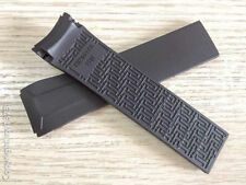 Black rubber silicone Strap Watchband for Tissot VELOCI-T T024417A and T024427A