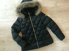 Girls Black DESIGNER TREAPI Down Fur PUFFA JACKET (age9-10) *NICE COND*