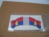MARX BATTLEGROUND EUROPEAN PLAY SET DECAL STICKER VIET CON HAND MADE FLAG