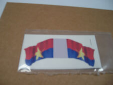 MARX BATTLEGROUND EUROPEAN PLAY SET DECAL STICKER VIET CON HAND MADE FLAG