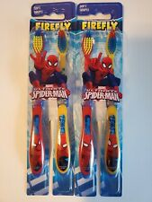 Marvel Ultimate Spiderman Firefly Dual Pack Toothbrushes Soft
