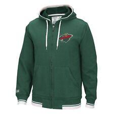 "Minnesota Wild CCM NHL ""Hit the Post"" Men's Full Zip Hooded Sweatshirt"