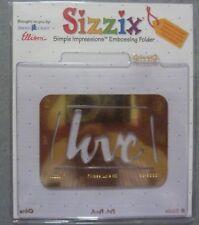 SIZZIX Embossing Folder 38-9668 Love