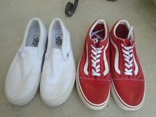Womens Vans lot of 2 pairs sneakers low top sz 10 red/white