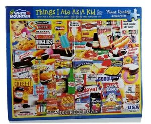 THINGS I ATE AS A KID 1000 Pc Jigsaw Puzzle White Mountain complete