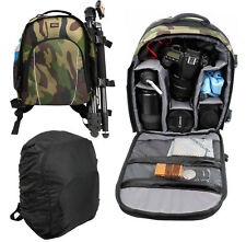 Camouflage Backpack w/ Rain Cover for Disney Frozen Underwater Action Camera