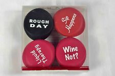 Set of 4 Novelty Vino Please Wine Stoppers