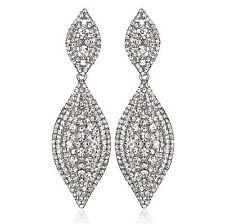 Sparkle Austrian Crystal Rhinestone Chandelier Dangle Earring Prom Silver E107