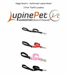 Lupine Lifetime 2 Foot Traffic Leashes - Service Dog Keep Dog Near - Pick Color