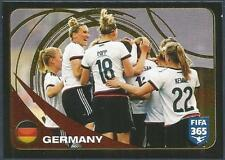 PANINI-2017 FIFA 365- #287-GERMANY WOMEN TEAM PHOTO-GOLD FOIL
