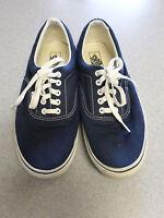 VANS blue canvas skateboarding shoes. Men's 12