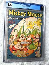 Mickey Mouse Magazine V3  #7 CGC 1.5 Apr 1938 Snow White & the 7 Dwarfs Easter